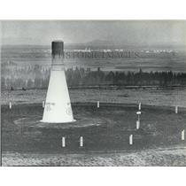1981 Press Photo Vortac Radio Navigation Station near Spokane Airport