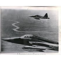 1965 Press Photo 2 F5 flew towards South Vietnam's Co Dong River - orb09861