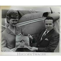 1967 Press Photo Aerial Photo Mt Hood Ray Montee International Women Pilots