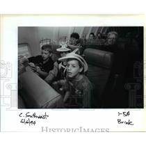 1994 Press Photo Passengers on Southwest Airlines - ora99107