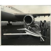 1976 Press Photo The French Microjet 90, smallest jet in the world - mja01729