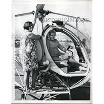 1967 Press Photo Andrea Lematta & her grandmother Mrs. Ed Lematta - orb60481