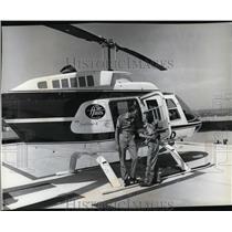 1981 Press Photo Airplane Helicopters Al Beach and Sandra O'Hearn - spa22935