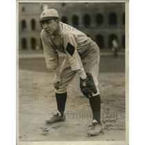 1929 Press Photo Everett Donaghy captain of Harvard University baseball