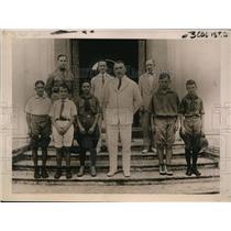 1922 Press Photo Gov Gen L Wood greets boys operating their own radio sets