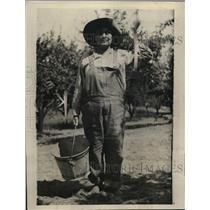 1920 Press Photo Mrs Eliza Shepard Superintendent & GM of Jack London Ranch