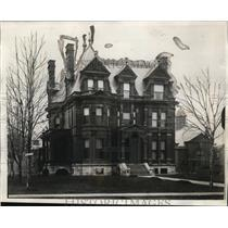 1928 Press Photo Simon J. Murphy home bought by city of Detroit to be a library