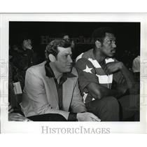 1977 Press Photo Washington Bullets coach Dick Motta with star Elvin Hayes