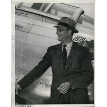 1938 Press Photo Ray Moore Speed Pilot & Frank Fullers Racing Plane - ney10088