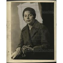 1930 Press Photo Rosemary Bach, returning from a 2 month trip from Europe