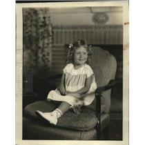 1932 Press Photo Daughter of Mr. and Mrs. Jas B. Blake, Lake Drive - mja18638