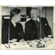 1933 Press Photo Philip La Follette and Viscount Burham
