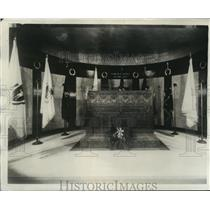 1931 Press Photo The interior of the Lincoln Tomb at Springfield, Ill