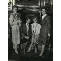 1980 Press Photo Ms. Vi Rost, Judy Marks, Joan Banholzer and Rosemary Bischoff