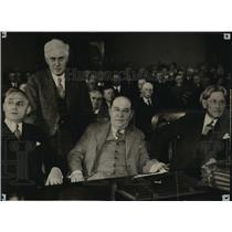 1930 Press Photo Gov. Walter J. Kohler, Attys. Theodore Benfy, Harry Butler,...