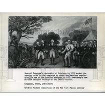 1961 Press Photo General Burgoyne's surrender at Saratoga in 1777 - mja06431