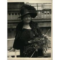 1923 Press Photo New York Countess Alma Von Bluscher to help German children NYC