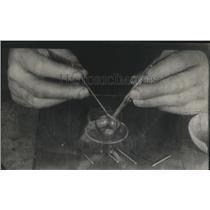 1921 Press Photo Static Streaks on Film Caused by Radium Emanations - ney09084