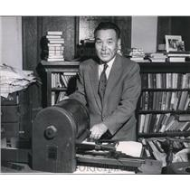 1958 Press Photo Church Spokane's Gift from City Japanese- Rev. Shigeo Shimada.