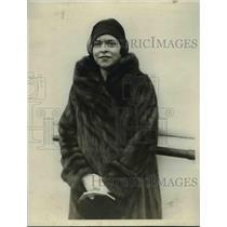 1929 Press Photo Mrs. H.L Cuddihy of N.Y on S.S. Leviathan - nef04703