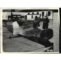 1936 Press Photo Tail-less Airplane Developed by Prof. Akerman of U of Minnesota