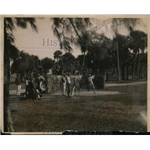 1919 Press Photo WP Langford, WB Pollock, EC Leach Palm Beach Fla golf
