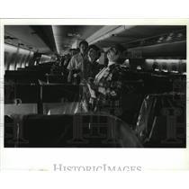 1992 Press Photo Boeing Employees John Zotter, Diana Comfort, Dian Koefod