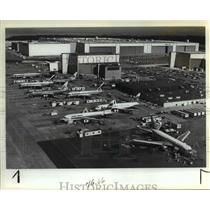 1985 Press Photo Boeing Co. jetliners go through final stages for customers,