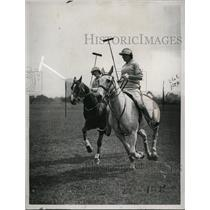 1922 Press Photo Leicestshire polo club girld on ponies - net13348