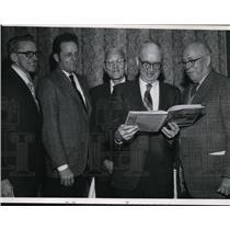 1971 Press Photo Oldtime Pilots from Spokane J. McGoldrick, R. Lamb, C.C Calkins