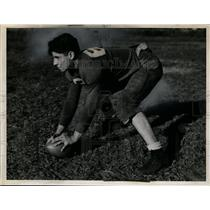 1940 Press Photo Captain John Manos of Lincoln High school football in Cleveland
