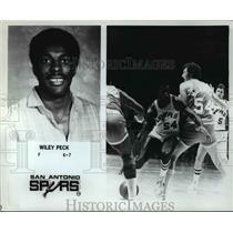 Press Photo Willy Peck -Forward 6-7 San Antonio Spurs - orc11878
