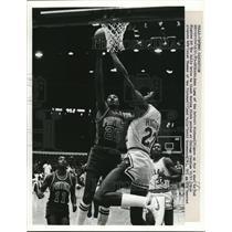 1983 Press Photo Pistons John Long,Isiah Thomas vs Bulls David Greenwood