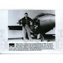 1992 Press Photo Pilot Chuck Yeager Beside Bell X-1 - spp01067