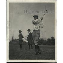 1919 Press Photo Golfer Speaker Gillette in action on a course - net15611