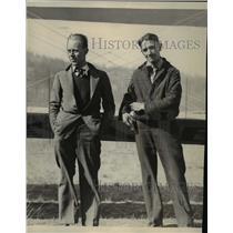 Press Photo Al Coppula with M.M. Wilson - spa12129