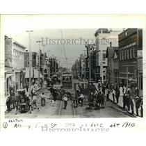 1910 Press Photo Albany's First Street was a Busy Place Back in 1910 - orc17124