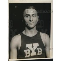 1927 Press Photo Captain Gilfry Ward Yale University basketball forward