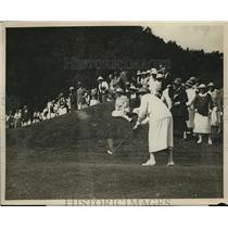 1922 Press Photo Women's National Golf in W VA Mrs Willian A Gavin, Miss Collett
