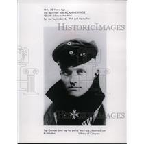 1964 Press Photo German Ace Manfred Von Richthofen - spp01313