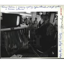 1986 Press Photo Joanne Carlson Screening Agent Spokane International Airport
