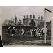 1929 Press Photo Oxford vs Cambridge girls field hockey WM Jones, RC Allen