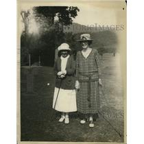 1922 Press Photo Mrs William Gavin, Mrs Arnold Jackson National golf in W VA