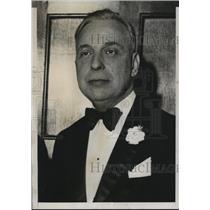 1933 Press Photo Chauncey Yockey president of Milwaukee Brewers - net14436