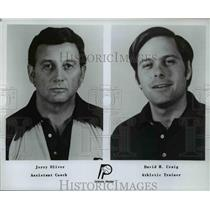 Press Photo Jerry Oliver & David H. Craig of the Indiana Pacers - orc11712