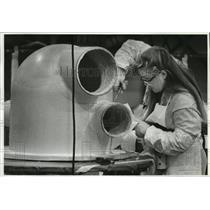 1991 Press Photo Boeing Employee Lisa Bozarth - spa27287