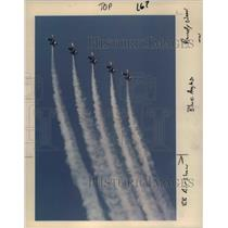 1990 Press Photo The Navy's Blue Angels precision flying team is back again