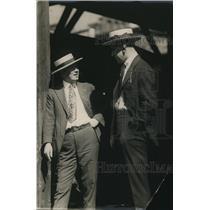 1920 Press Photo Jimmie Johnston fight promoter & Battling Levisky - net15523