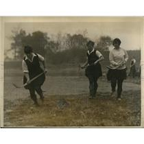 1926 Press Photo Savage School girls at field hockey in New York City