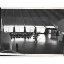 1965 Press Photo Waiting Area Spokane International Airport Terminal - spa28258